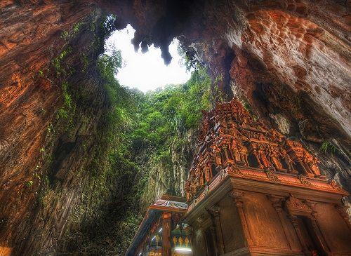A sanctuary inside a mountain - The Murugan shrine at the Batu Caves  http://niceartlife.com/a-sanctuary-inside-a-mountain/