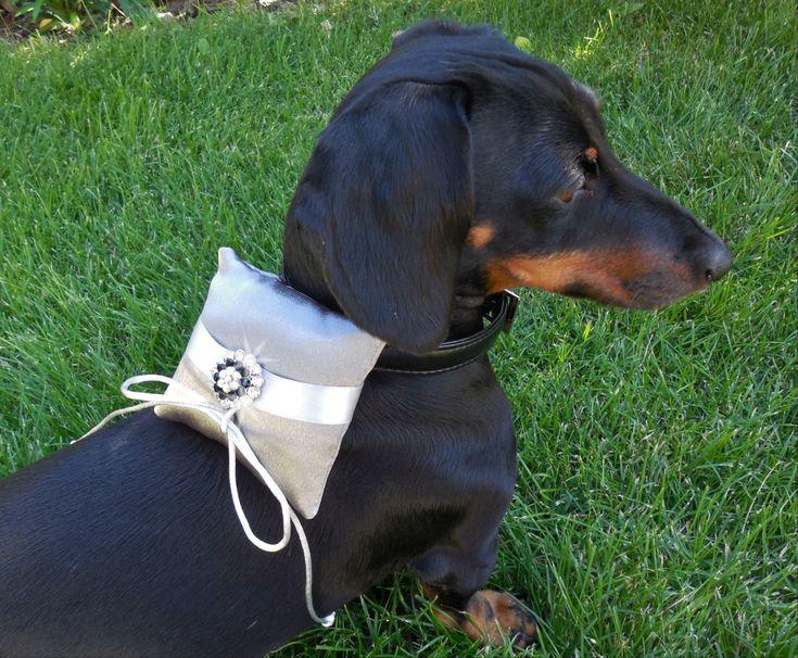 Dog Ring Bearer Pillow Rhinestone Collar by DESIGNERSHINDIGS, $18.95