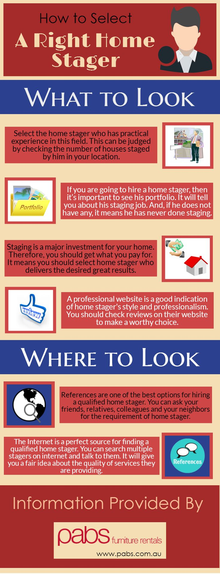 Home staging is important for making your home look beautiful. It helps you in selling the home at a higher price. But, for home staging, you should select a right home stager, having proper knowledge about home staging. With this, there are many things you should look at while you are going to select home stager.  If you want to know about these things, then go through this infographic. Here you will get to know about major points about it.