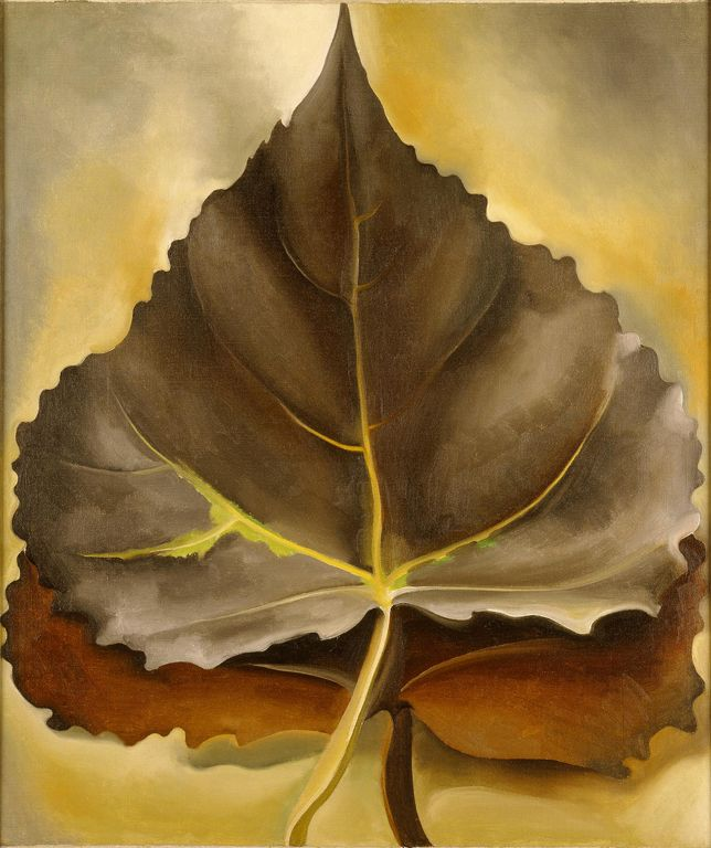 Georgia O'Keeffe (American, 1887–1986). Grey and Brown Leaves, 1929.