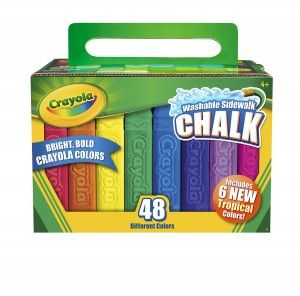 3D Sidewalk Drawing Non Toxic and Anti Dust 3D Crayola Chalk