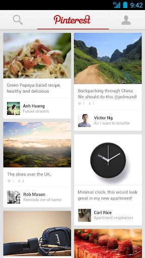 Pinterest - Applications Android sur GooglePlay