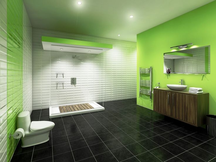 These Two Tiles Are Perfect For Whatever Your Bathroom Tile Surprising  Green Painted Wall Combined With Part 11
