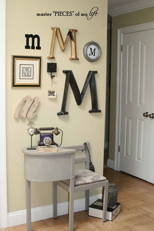 Oh!, How I want a telephone chair or gossip bench as I've always called them. Monogram5