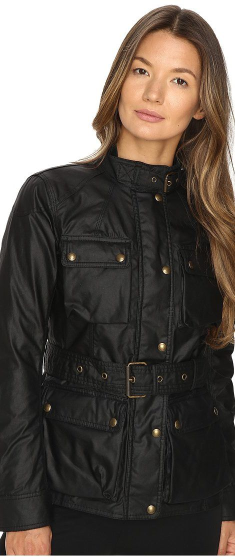 BELSTAFF Roadmaster 2.0 Signature 6 oz. Wax Cotton Jacket (Black) Women's Coat - BELSTAFF, Roadmaster 2.0 Signature 6 oz. Wax Cotton Jacket, 72050041C61N0158, Apparel Top Coat, Coat, Top, Apparel, Clothes Clothing, Gift - Outfit Ideas And Street Style 2017
