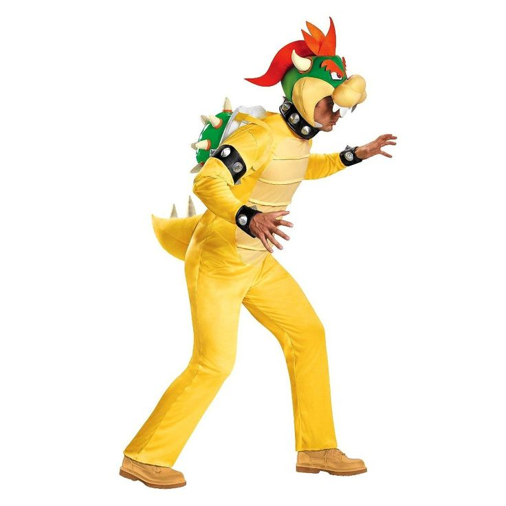 Super Mario Men's King Koopa Costume X-Large, Size: XL, Yellow