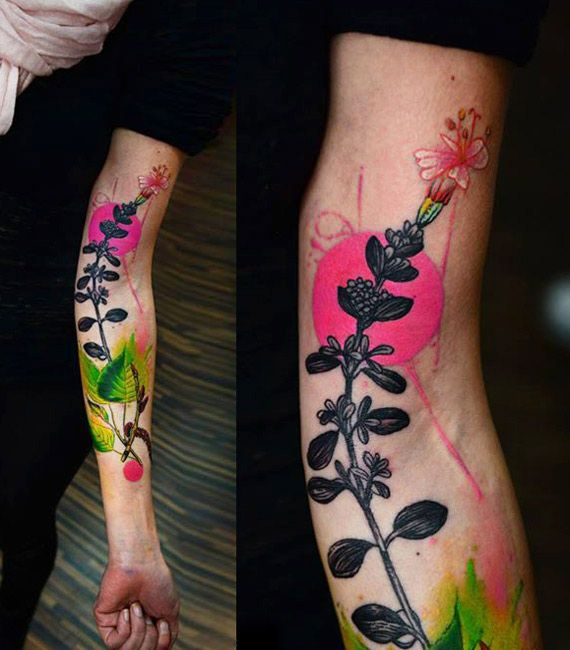 Abstract flowers tattoo by timur lysenko tattoo no for Abstract flower tattoo