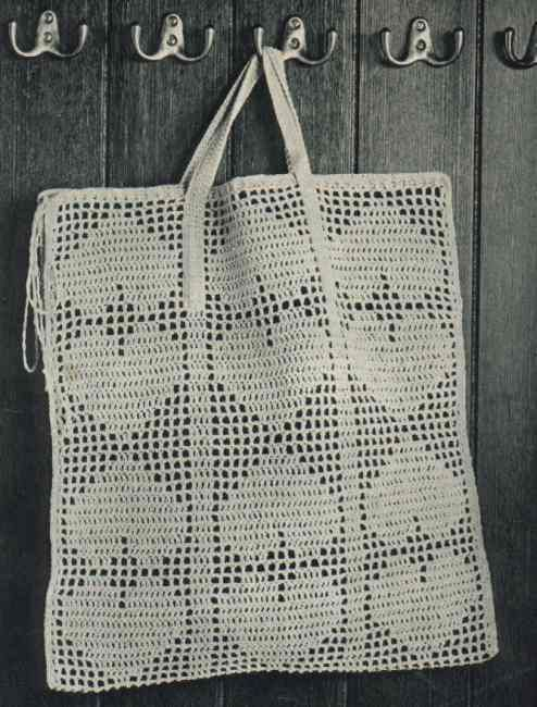 Crocheted Shopping Bag - Chart ❥ 4U hilariafina  http://www.pinterest.com/hilariafina/