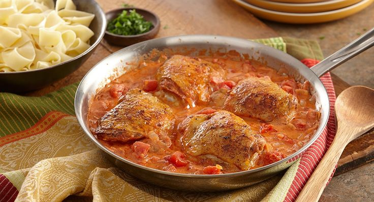 Hungarian Chicken Paprikash--couldn't this be done in a crock pot?