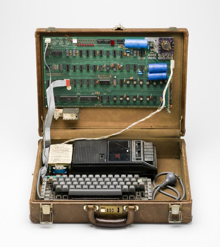 Steve Wozniak, Apple I Personal Computer, 1976. USA. The production run was approximately 200. There are about 50 surviving examples in public and private collections worldwide.