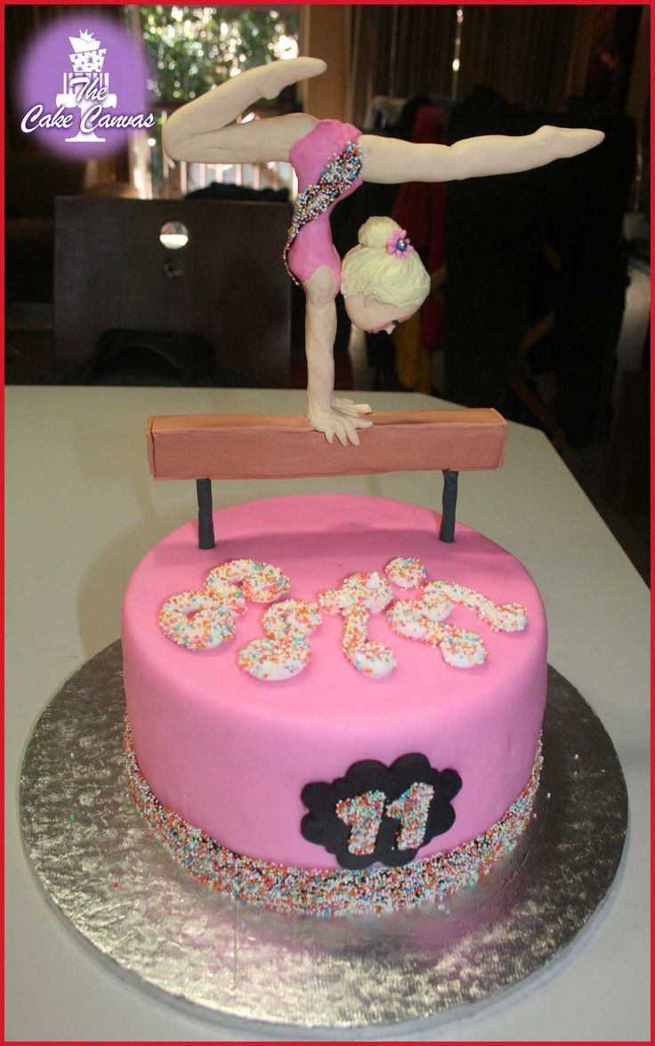 Peachy Gymnastics Birthday Cake 210218 13 Best Gymnastics Cakes Images On Personalised Birthday Cards Bromeletsinfo