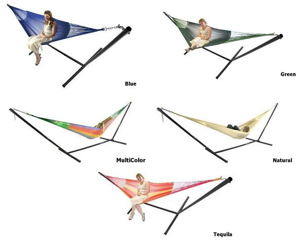 Mayan Double Hammock With Stand Combo Two Person Handwoven #hammock