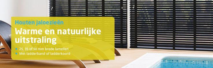 Onze eco friendly houten jaloezieën zorgen voor een perfecte sfeer in iedere ruimte. Landelijk of modern, door de robuuste en natuurlijk warme uitstraling zijn houten jaloezieën een aanwinst voor ieder interieur. Daarnaast zijn de houten jaloezieën ideaal om in een handomdraai, op ieder moment van de dag de gewenste privacy, doorkijk of lichtinval te realiseren. https://www.leeftrendy.nl/jaloezieen/houten-jaloezieen.html