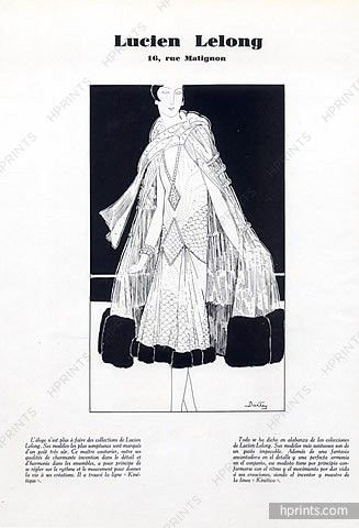 Lucien Lelong 1926 Evening Gown and Cape & Jacques Heim Fur Coat