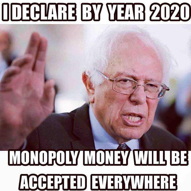 Funmoney Berniesanders Fun Money Monopoly Money Instagram