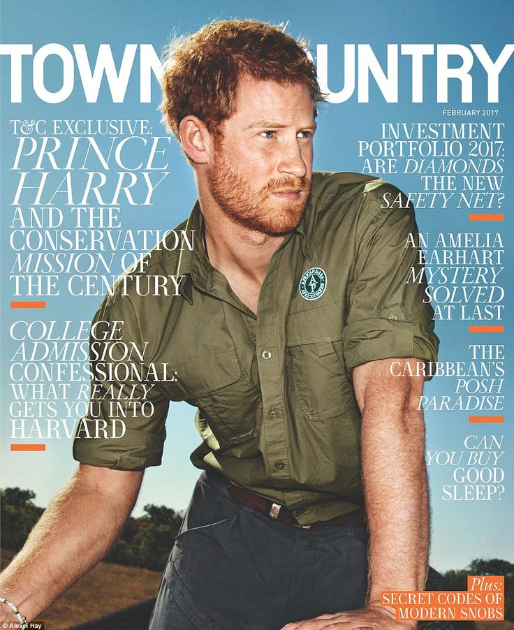 Prince Harry has graced the cover of Town & Country after taking a reporter inside his journey saving 500 endangered elephants from poachers in Africa