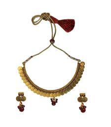 Buy Temple Goddess Jewellery Set (Red) necklace-set online