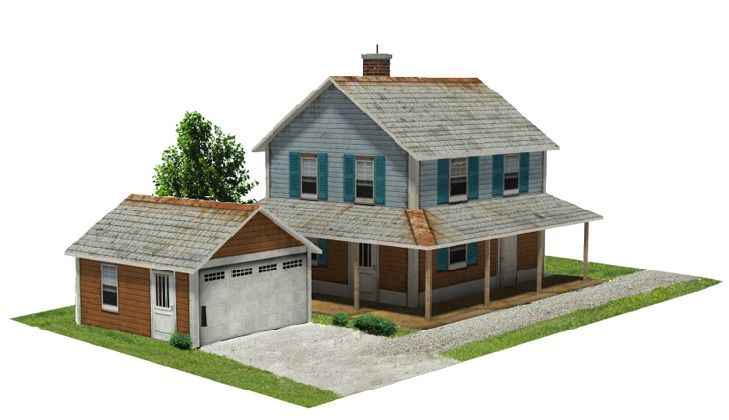 Scale model house to make model railroad pinterest for Model homes to build