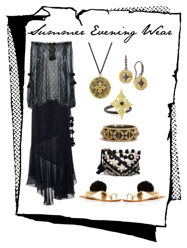 """""""Summer Evening Wear"""" by karen-galves ❤ liked on Polyvore featuring Figue and Armenta"""