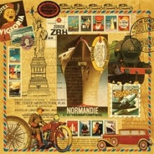 Graphic 45 // Papel para Scrapbook Dupla Face- Transatlantique- Transatlantique Collection- Graphic 45