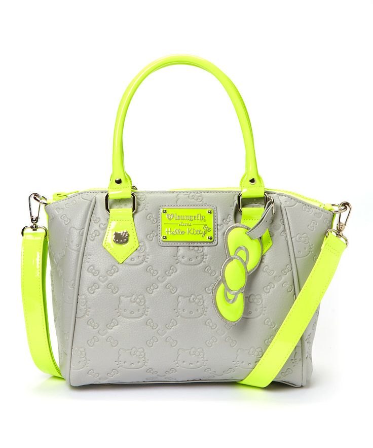 Loving this Green Neon Hello Kitty Tote