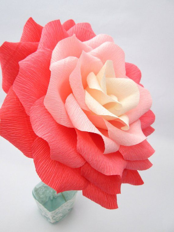 Giant Paper Flower Ombre Paper Rose Wedding Decoration Wedding
