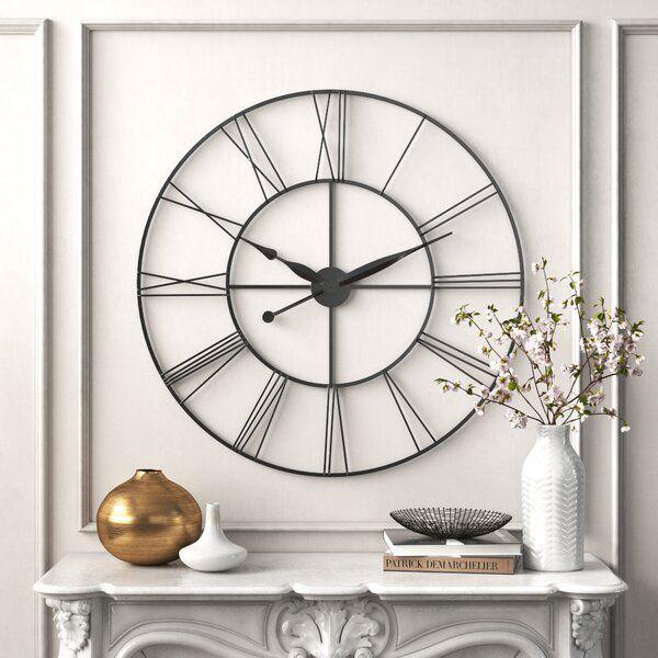 Oversized James 45 Wall Clock In 2020 Wall Clocks Living Room Wall Clock Large Metal Wall Clock