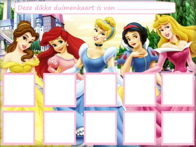 Disney Prinsessen - Website of dikkeduimenkaarten!
