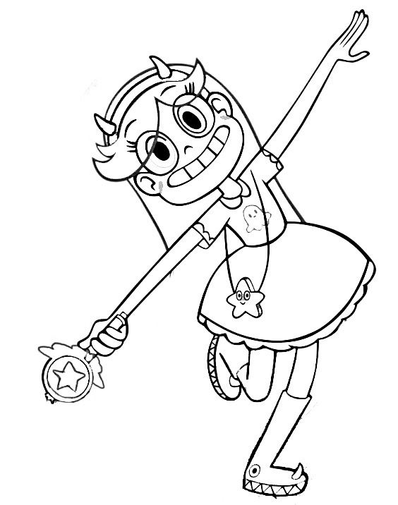 Star Vs The Forces Of Evil Coloring Pages To Download And Print