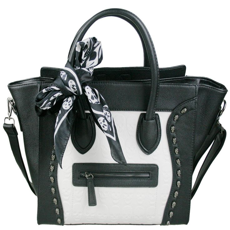 Dámské kabelky LS Fashion | Kabelky tvar Celine | Kabelka Miss Lulu L1101 černo-bílá | ZNAČKOVÉ KABELKY A TAŠKY - Bag Paradise - krásné kabelky, psaníčka, tašky, hodinky, bižuterie