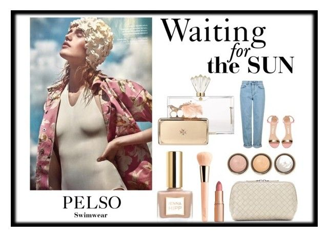 """PELSO // Waiting for the sun"" by pelso on Polyvore featuring Charlotte Olympia, Alexander McQueen, By Terry, Bottega Veneta, Guerlain, Charlotte Tilbury, Topshop and Manolo Blahnik"