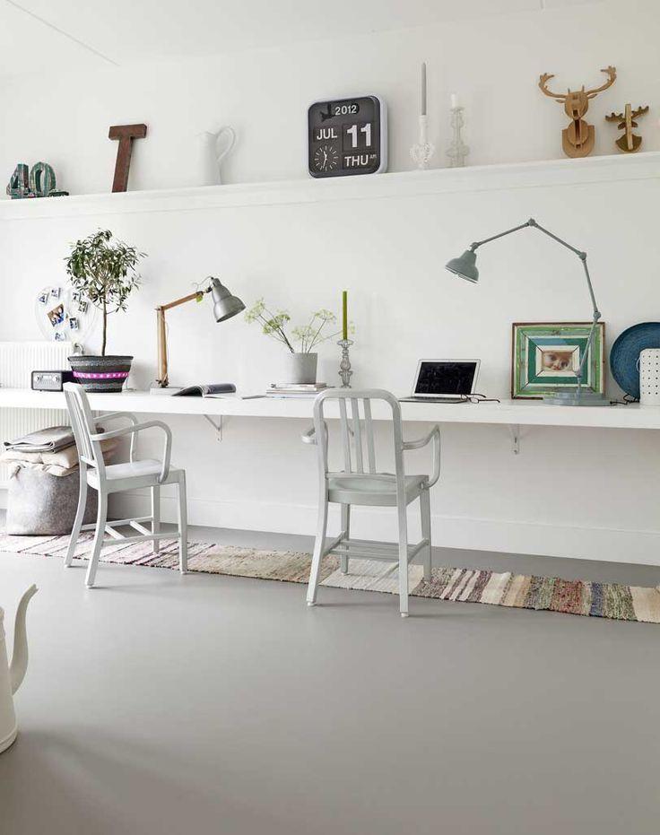marmoleum bureau stoelen