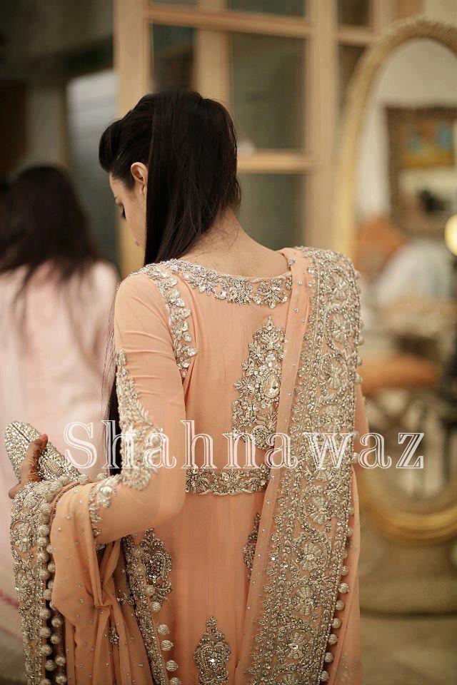 Mughal Style Peach Anarkali