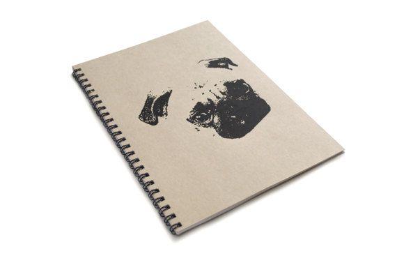 Pug Kraft A5 Spiral Notebook