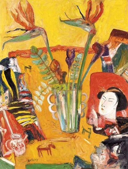 John Bellany  Still Life with Bird of Paradise Flowers  2002