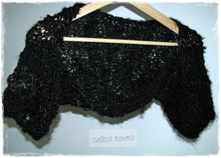 knitted sari silk shrug by rustica maxima https://www.facebook.com/rusticamaxima