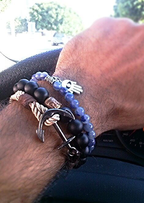 #beaded #handmade #bracelets #anchor #hamsa #buddha #rope