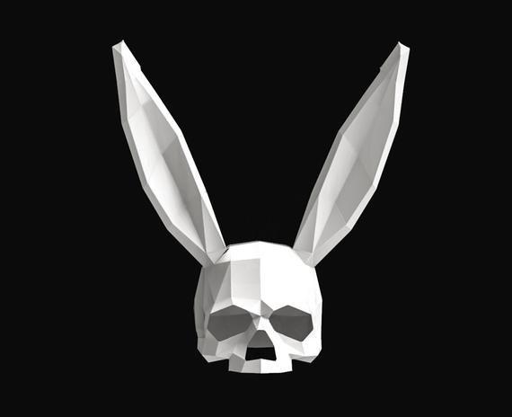 a0d75e4348d68 Papercraft Rabbit Mask, Skull Mask, Bunny Mask, Mask, Donnie Darko ...