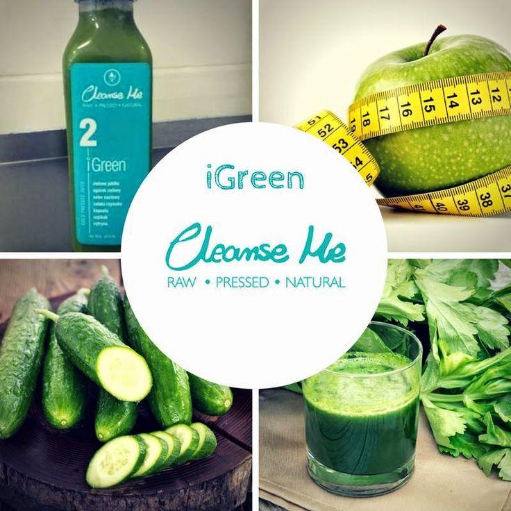 Zielone koktajle: IGREEN = jabłko + ogórek + seler naciowy + cytryna + sałata + kapusta + szpinak