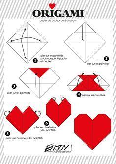 tuto origami coeur
