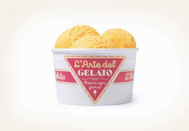 L'Arte del GELATO by Louise Fili.  The logo was inspired by Italian package designs from the 1930s by Louise Fili