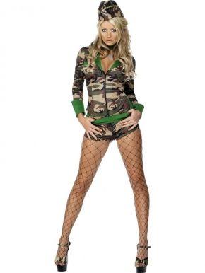Zmysłowy strój w stylu wojskowym