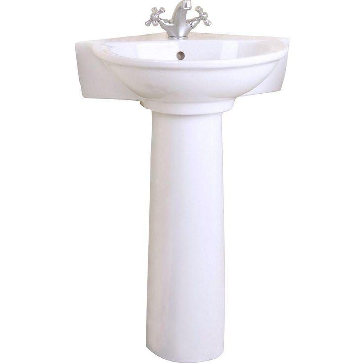 1000 Ideas About Corner Pedestal Sink On Pinterest Sinks For Small Bathrooms Pedestal Sink