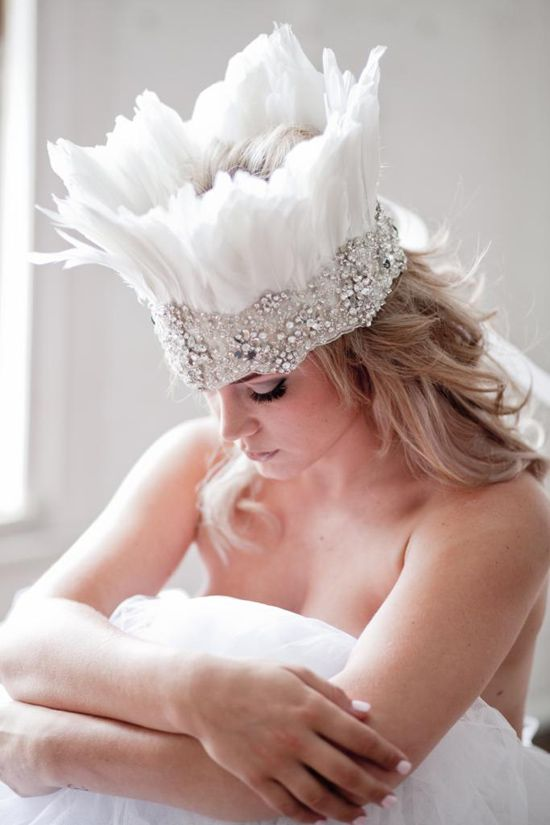 Feather headpiece | Flight Of Fantasy Collection By Shut The Front Door Bridal Accessories