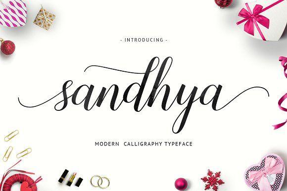 Sandhya Script (off 30%) by Unicode on @creativemarket