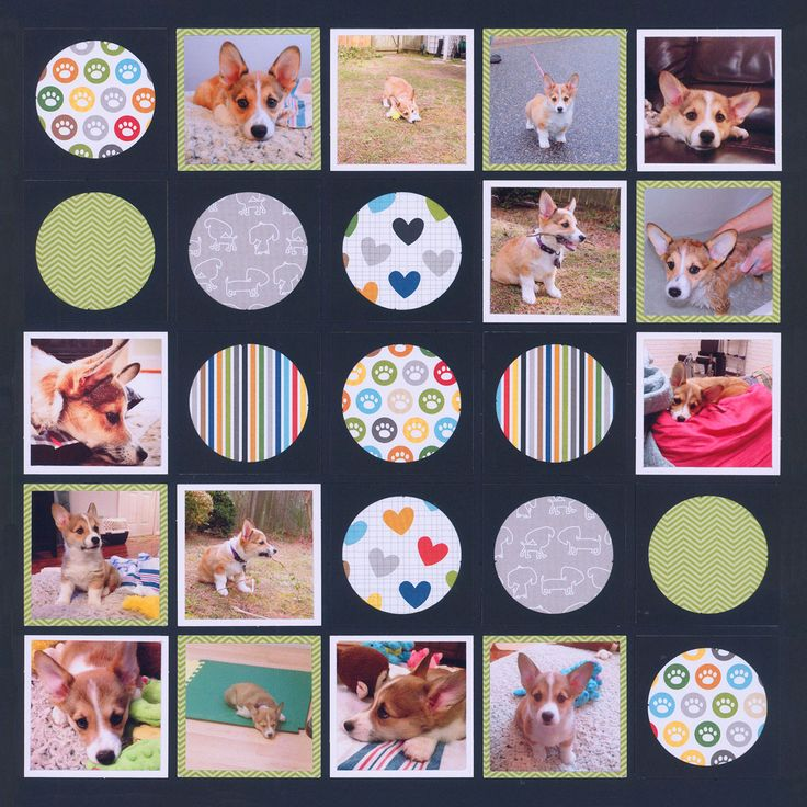 This is awesome! You can show off patterned paper by putting them behind Circle Tiles (or Dies). What a great way to add lots of color & interest