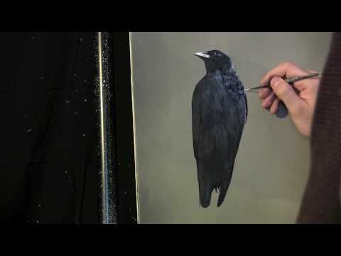 Simple Crow painting lesson preview by Tim Gagnon. Visit Tim Gagnon Studio at http://www.timgagnon.com/ for more information and online lessons.
