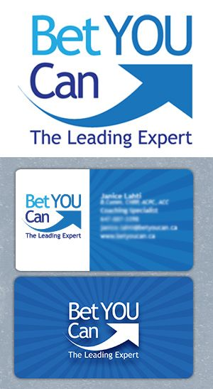 Bet YOU Can logo and business card design. By Fusion Studios Inc