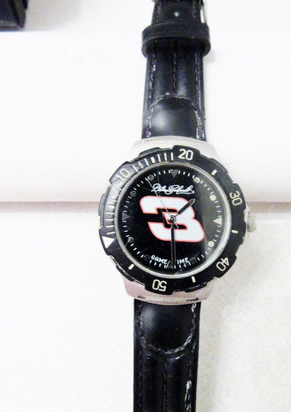 Dale Earnhardt NASCAR 3 car Men's wristwatch Game time shop co. mod:fsc52426-1 signature 1st Edition wristwatch   Pr owned minor to moderate wear..All my watches are described to the best of my knowledge,the item pictured will be received in the  condition stated.If you would like more photos or information please request.If for any reason you are pleased with your order just contact me for a full refund or exchange options.options | Shop this product here: spree.to/a45p | Shop all of our…