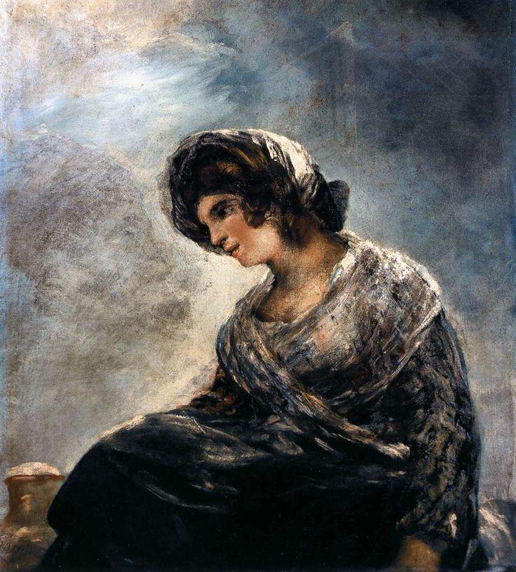 Francisco Goya Bordo'nun Sütçü Kızı / The Milkmaid of Bordeaux 1825-1827. Tuval üzerine yağlıboya. 74 x 68 cm. Museo del Prado, Madrid.